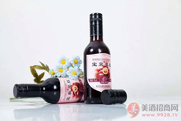 宝泉菲红无糖山楂酒8度187ml