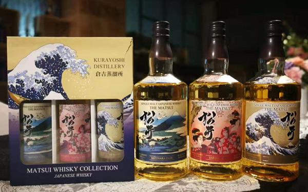 【發現美酒】松井單一麥芽威士忌橡木木桶、櫻花、泥煤3瓶裝