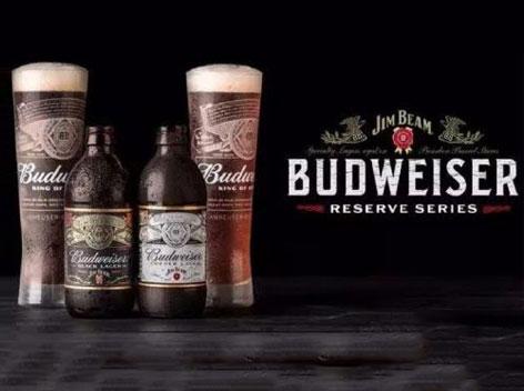 百威�c占�合作推出波本威士忌桶�制限量黑啤