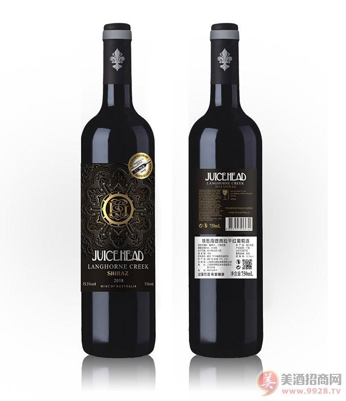 澳大利��珠思海德西拉干�t葡萄酒15.5度750ml
