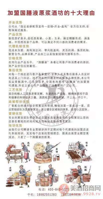 泸州市国膳液酒业有限公司招商政策