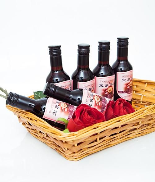 太行山特产,山里红野生山楂酒!
