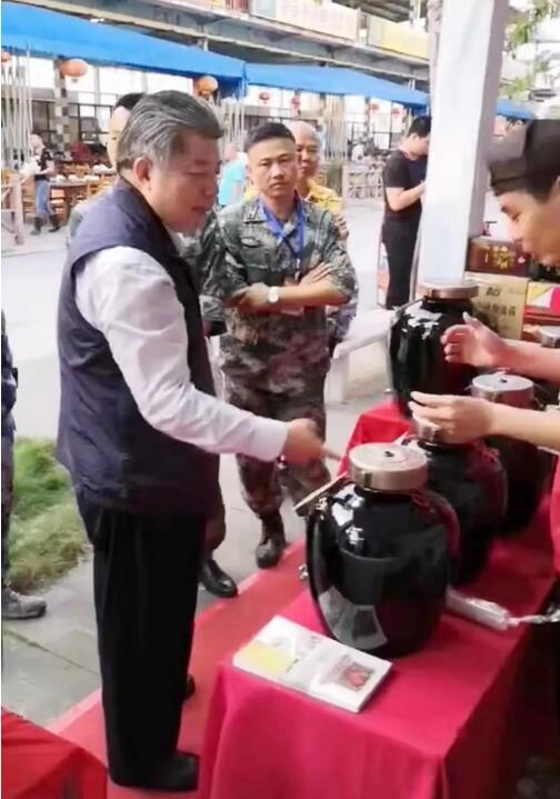 简讯|仙临老酒坊亮相海口退役军人展销会