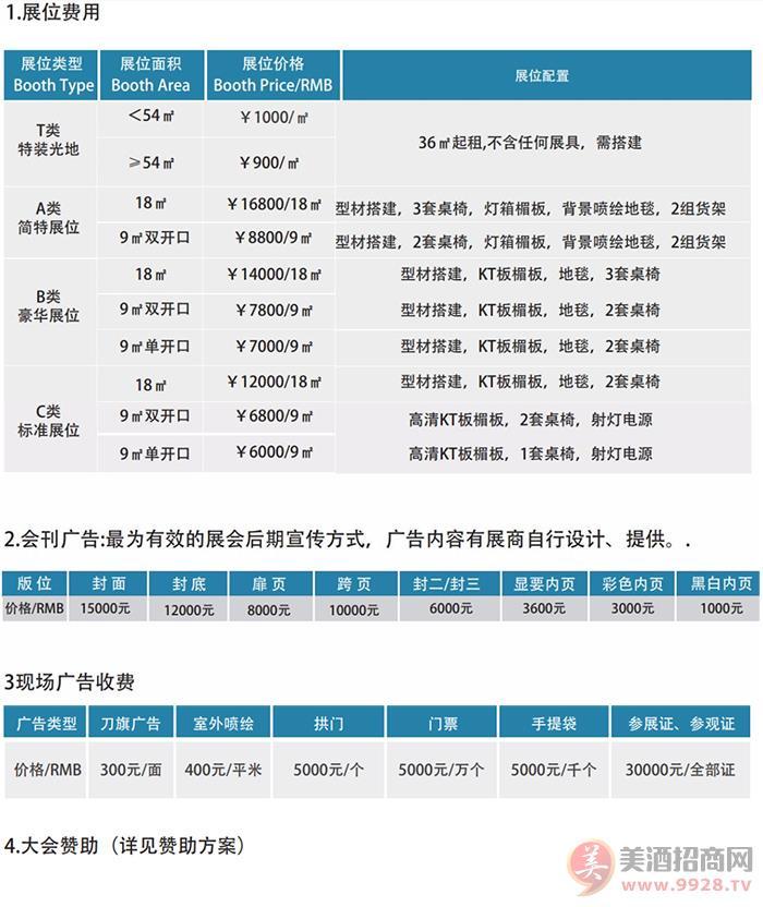 2020年江苏南京国际酒业博览会的收费标准