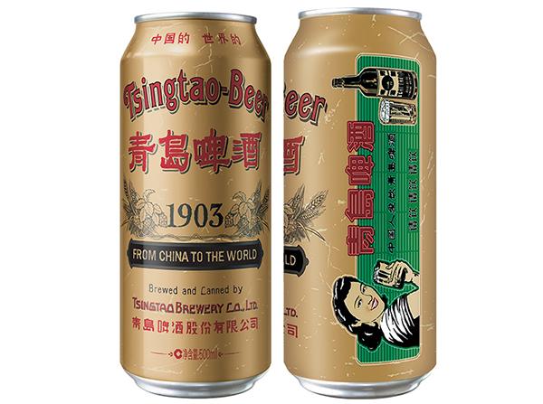 青岛啤酒1903国潮罐,青岛啤酒新品引爆啤酒圈