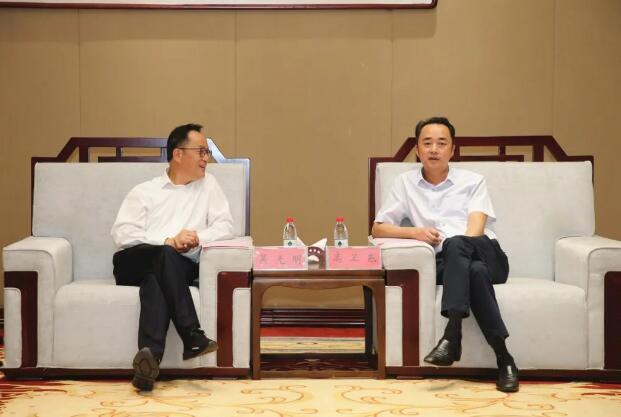 高卫东与鱼跃医疗集团董事长吴光明座谈