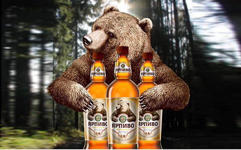 【发现美酒】俄罗斯原装进口棕熊牌琥珀啤酒