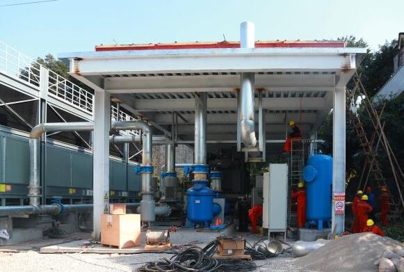 冷却水循环利用环保提升改造项目施工现场