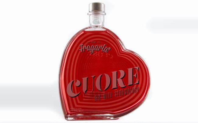 【发现美酒】葡萄牙进口草莓甜心精品金酒,心型酒瓶造型,创意十足