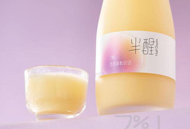 �x比�d半醒原味酸奶酒