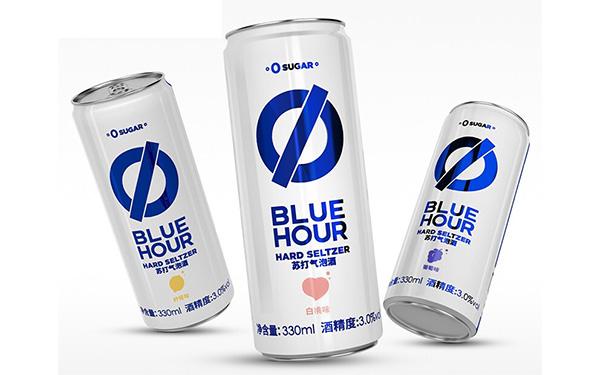 【发现美酒】 Blue Hour苏打气泡酒,0糖、0脂、低卡!