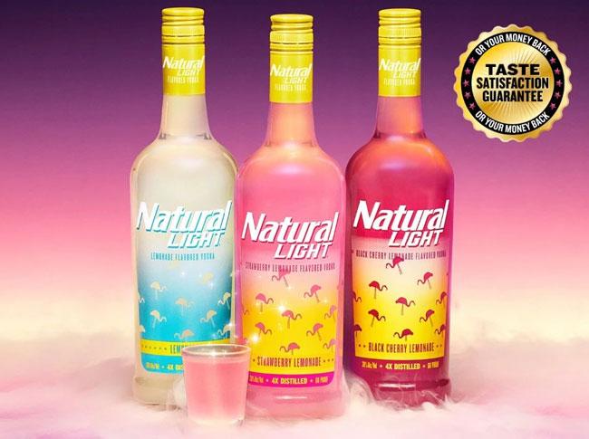 美��淡啤品牌Natural Light推出新品伏特加