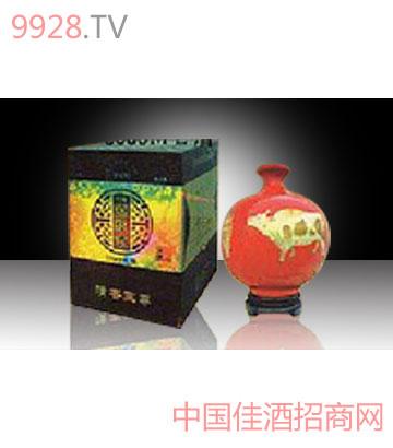 山西特产杏花村原浆酒中国红牡丹