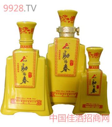 劲阳春黄瓷瓶酒