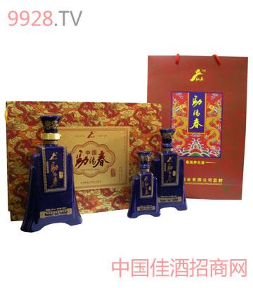 劲阳春蓝瓷瓶酒